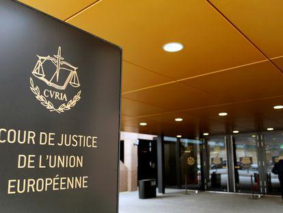 Entrada del Tribunal de Justicia Europeo, en Luxemburgo en enero de 2017.