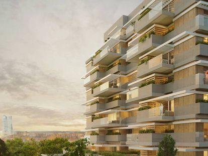 Proyecto de una promoción de viviendas en el norte de Madrid.