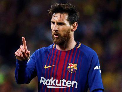 Messi, durante un clásico de este año.