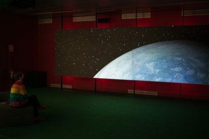Imagen de la exposición 'Marte, el espejo rojo', en el CCCB de Barcelona.