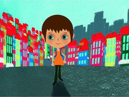 Ilustración de la animación del tema de Magín Blanco (#MarchoQueTeñoQueMarchar), cedida por
