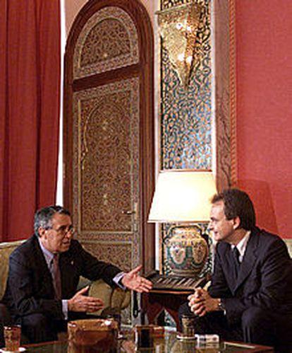 Zapatero y Benaissa, ministro de Exteriores marroquí, en Rabat.