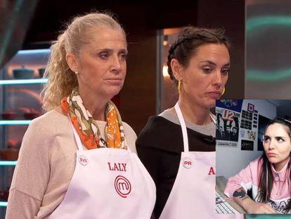 Andrea Compton (abajo a la derecha) comenta en YouTube uno de los programas de la séptima edición de 'MasterChef'.
