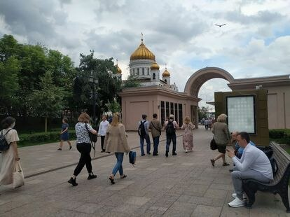 Una calle del distrito de Khamovniki, en el centro de Moscú.