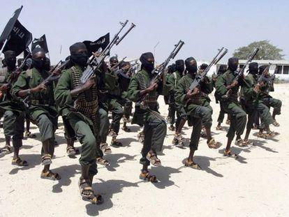 Miembros de Al Shabaab, en una foto de archivo.