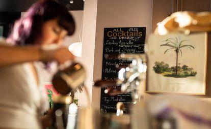 Un restaurante vegano de la cadena Mildreds el 4 de enero de 2020 en Londres.