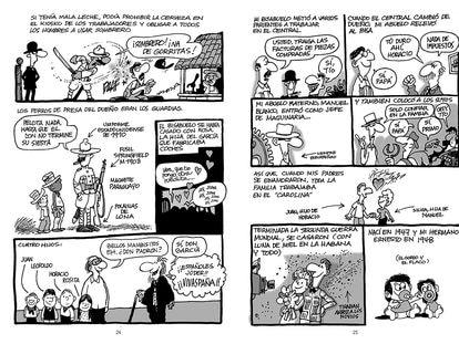 Viñetas de 'Mi vida en Cuba'.