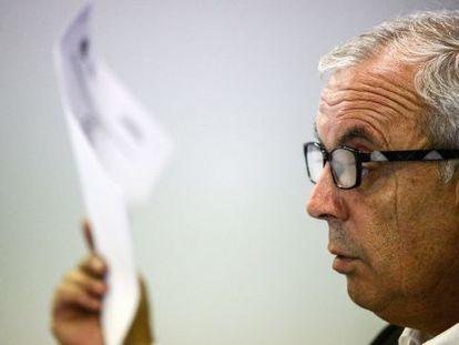 Pachi Vázquez, ayer en la rueda de prensa.