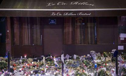 Tributo a laf víctimas de los ataques del viernes en París.