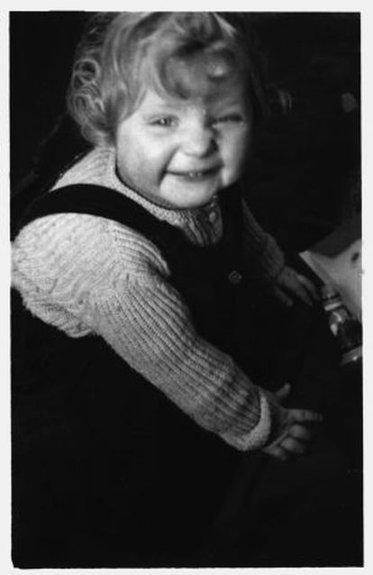 Merkel, a la edad de un año.