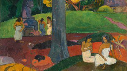 Una de las piezas que ha aportado el Museo Thyssen es el célebre 'Mata mua' ('Érase una vez'), una representación de la naturaleza y cultura maorí que estaba en proceso de desaparición y el artista quería recuperar.