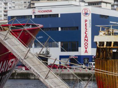 Instalaciones de Pescanova en el puerto de Vigo.