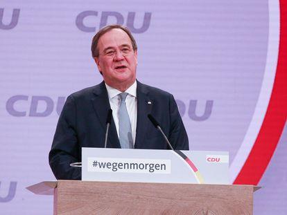Armin Laschet, durante su discurso en el congreso de la CDU celebrado el 15 y 16 de enero de 2021.