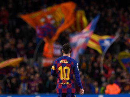 Messi, en el Camp Nou.