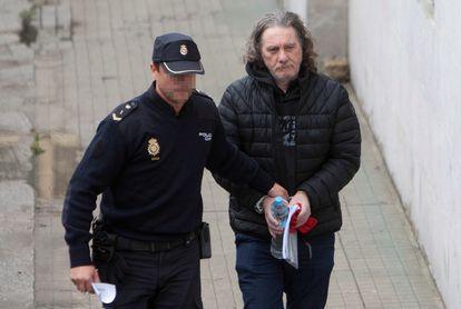 El narcotraficante Sito Miñanco a su llegada a la Audiencia de Pontevedra este martes.