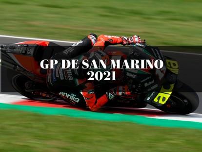El piloto Maverick Vinales, durante la sesión de clasificación del sábado en el Gran Premio de San Marino 2021.