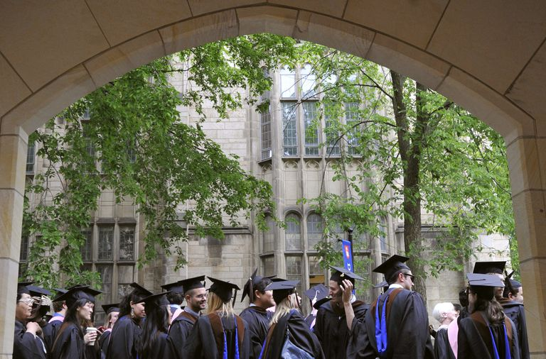 Graduates of the 2010 class of Yale University in New Haven.