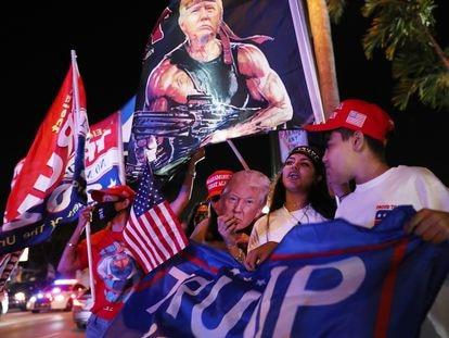 Simpatizantes de Trump en Miami, este 3 de noviembre.