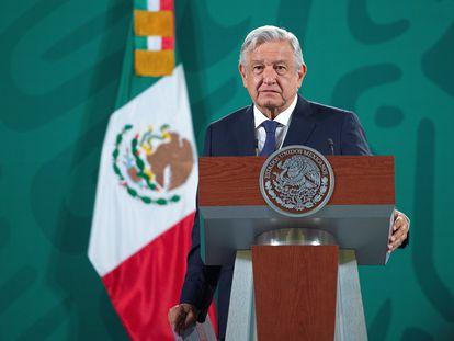 Andrés Manuel López Obrador, durante una rueda de prensa.