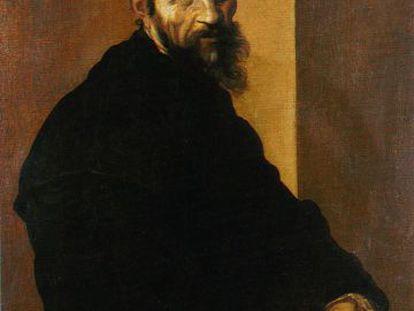 Uno de los pocos retratos de Miguel Ángel, realizado por Jacopino del Conte en 1535.