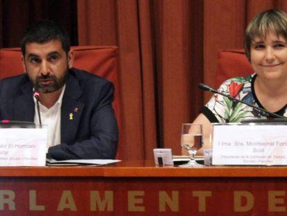 A la izquierda, el consejero de Trabajo, Asuntos Sociales y Familia, Chakir el Homrani.