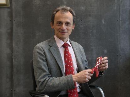 Pedro Duque, durante una entrevista en Madrid en 2019.