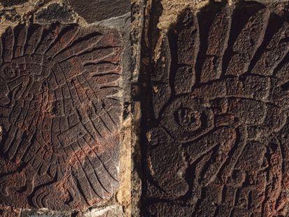 Bajorrelieve del águila real encontrado en el Templo Mayor.