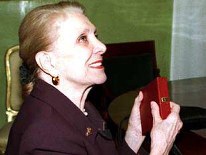 María Dolores Pradera, ayer, en Granada.