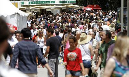 La Feria del Libro de Madrid este fin de semana en el parque del Retiro.