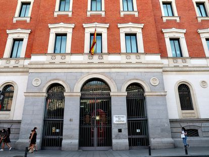 Fachada del Tribunal de Cuentas, en Madrid.