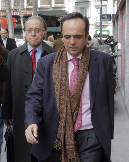 Guillermo Ortega, tras declarar ante el juez en marzo de 2009.