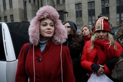 La actriz y activista Rose McGowan.
