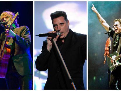 De izquierda a derecha, los músicos Nacho Vegas, Loquillo y Calamaro. ¿Son algunas de sus canciones machistas?