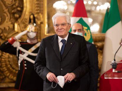 El presidente de la República italiana, Sergio Mattarella, este viernes, en Roma.