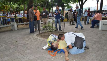 Uno de los periodistas muertos en Guatemala este martes.