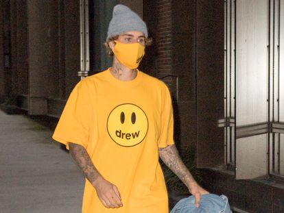 Justin Bieber en Nueva York, en octubre de 2020.