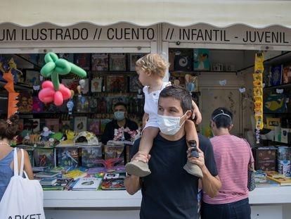 La Feria del Libro de Madrid en el Parque del Retiro el 10 de septiembre.
