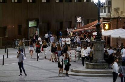 Una calle de Santander el 3 de julio.