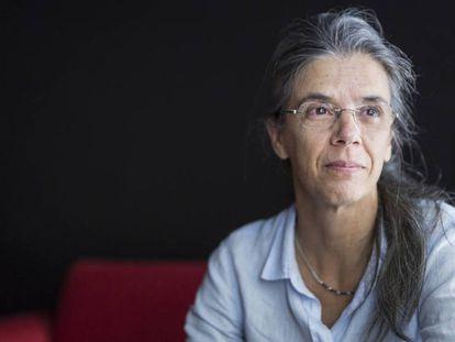 La traductora literaria Anna Casassas, el pasado viernes en Barcelona.