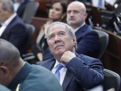 Guillermo Botero, este martes en el Senado de Colombia.