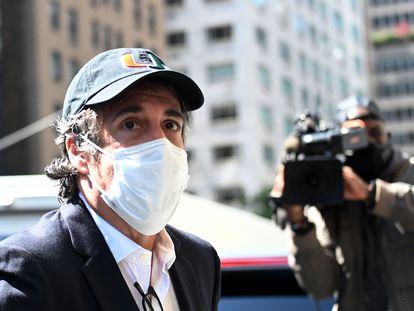 El exabogado de Donald Trump, Michael Cohen en Nueva York.