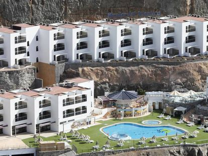 El complejo de apartamentos Mirador del Atlántico, en la isla de Gran Canaria, en una imagen de archivo.