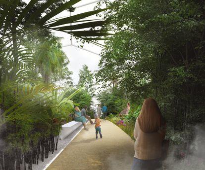 Así podría ser el interior de una de las islas del proyecto que pretende funcionar sin emisiones de ningún tipo.