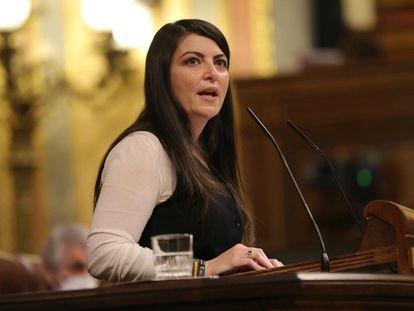 La diputada por Granada y portavoz adjunta del grupo de Vox en el Congreso, Macarena Olona, el pasado 8 de diciembre.