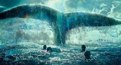 Una imagen de la película 'En el corazón del mar', adaptación del libro del mismo nombre de Nathaniel Philbrick, basado a su vez en Moby Dick.