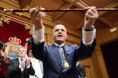 José Manuel Baltar, en 2012 cuando fue investido presidente de la Diputación ourensana.