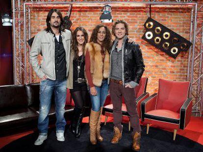 Melendi, Malu, Rosario Flores and David Bisbal, los jurados de 'La Voz'.