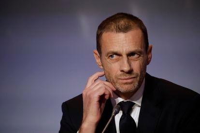 El presidente de la UEFA, Aleksander Ceferin, en una imagen de archivo.