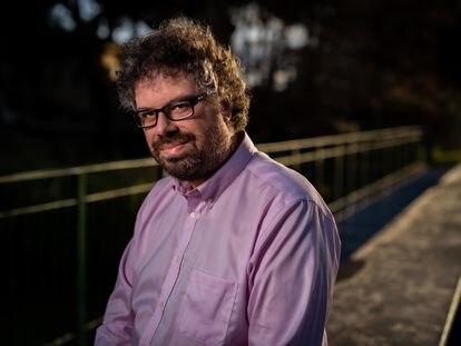 El escritor Sergio del Molino, en Zaragoza.