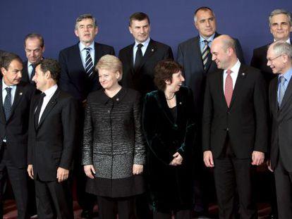 La foto de familia de la reunión de líderes de la Unión Europea, en Bruselas, Bélgica.